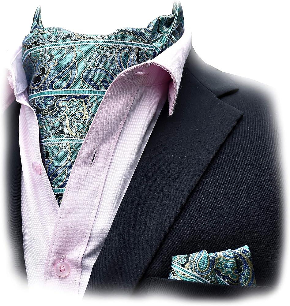 Felix & SiLK Hombre Niño Paisley Set Ascot Cravat Corbatas Fulares ...