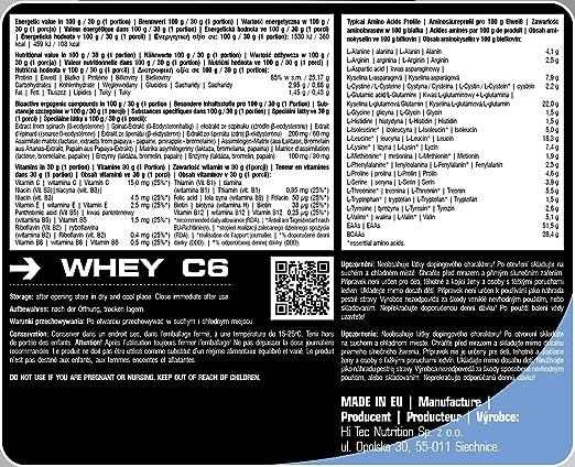 całkiem fajne tanio na sprzedaż zawsze popularny C6 Whey 2250 g 2 Inch Wheypr Protein Concentrate, Wheypr ...