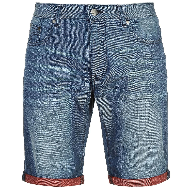 271bb6d75d Firetrap Hombre Turn Up Denim Shorts Pantalones Cortos Ropa Vestir Casual