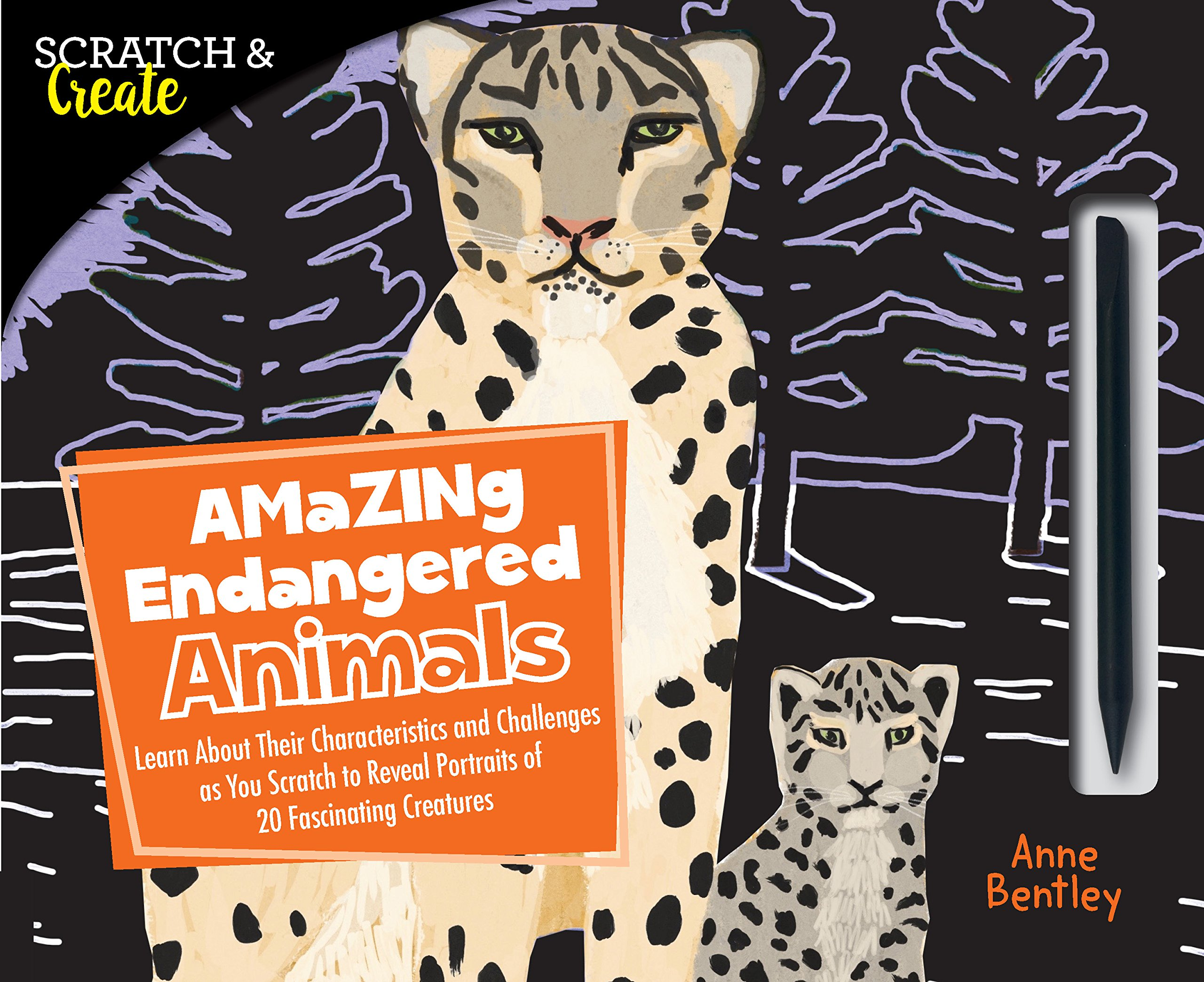 Scratch & Create: Amazing Endangered Animals: Learn About Their Characteristics and Challenges as you Scratch to Reveal Portraits of 20 Fascinating Creatures