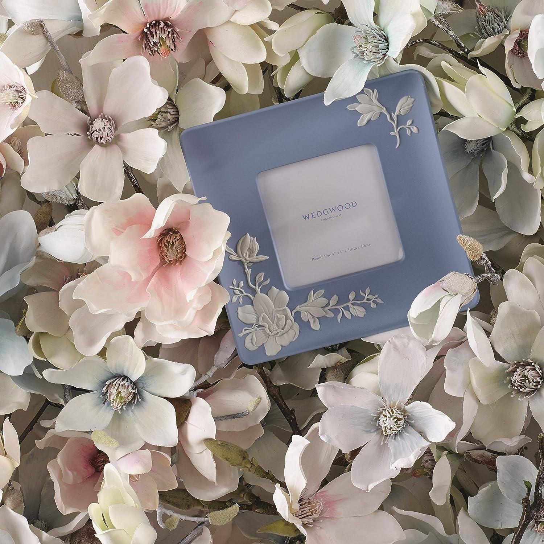 Amazon Com Wedgwood Magnolia Blossom Frame 4x4 4 Blue And White Home Kitchen