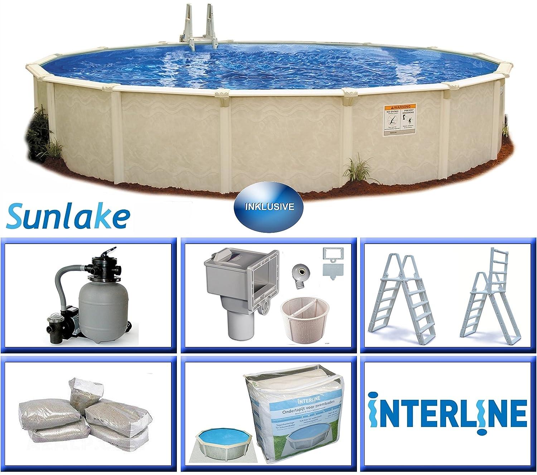 Brandneu Interline 55000112 rund Pool Sunlake Durchmesser 3,60m, Tiefe 1  BN37