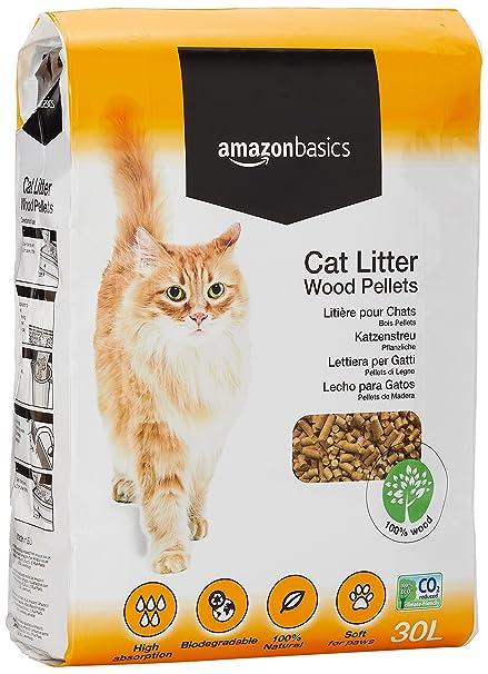 Amazon.com : AmazonBasics Cat Litter Wood Pellets 30L : Pet Supplies