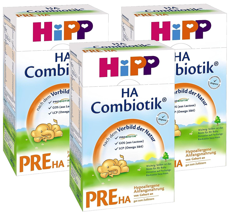 Hipp Pre HA Combiotik, hypoallergé nique pour nourrissons - de la naissance, 3-pack (3 x 500g) hypoallergénique pour nourrissons - de la naissance Hipp GmbH & Co. Vertrieb KG