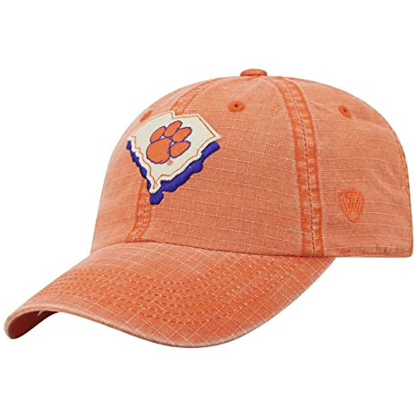 low priced 2e587 38c7d Amazon.com   Top of the World Clemson Tigers Official NCAA Adjustable  Stateline Cotton Hat Cap 456560   Sports   Outdoors