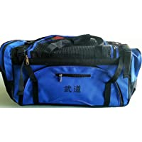 """Martial Arts bag with Mesh Top/ Poket, Boxing MMA Deluxe Equipment Bag, Black or Blue 13""""x27""""x14"""""""