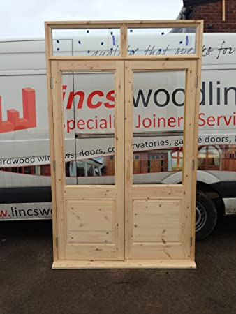 Softwood External French Doors With Frame Style 4 2600mm H X 1800mm
