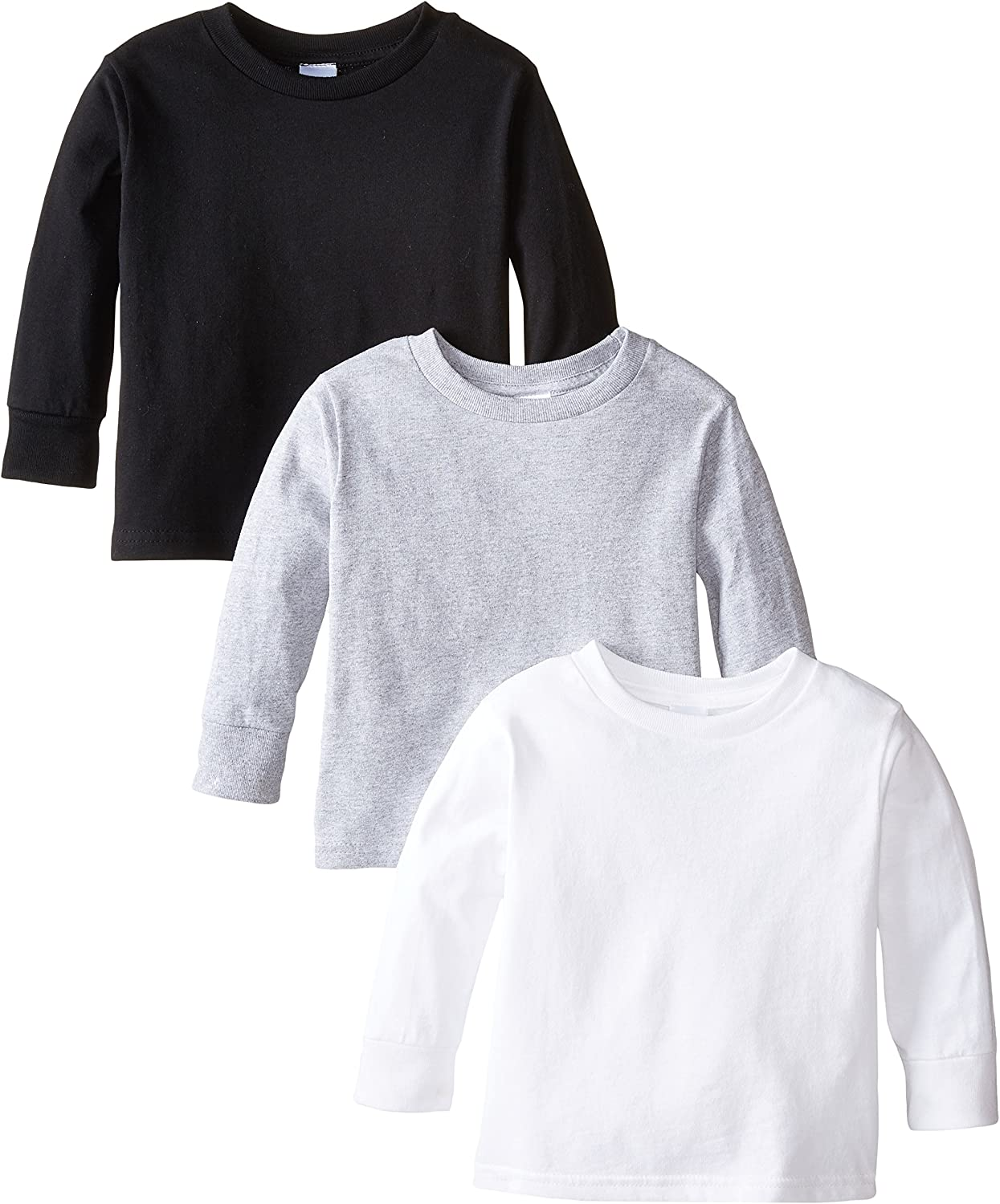 Clementine Apparel Girls Long Sleeve Basic Tee 3pack T-Shirt