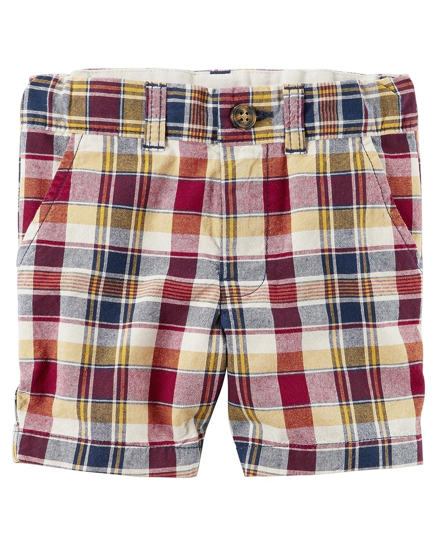 224g463-6-Kids Carters Little Boys Cotton Short Plaid