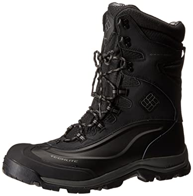 Columbia Men's Bugaboot Plus III Xtm Omni-Heat Snow Boots in Black/Charcoal - 13