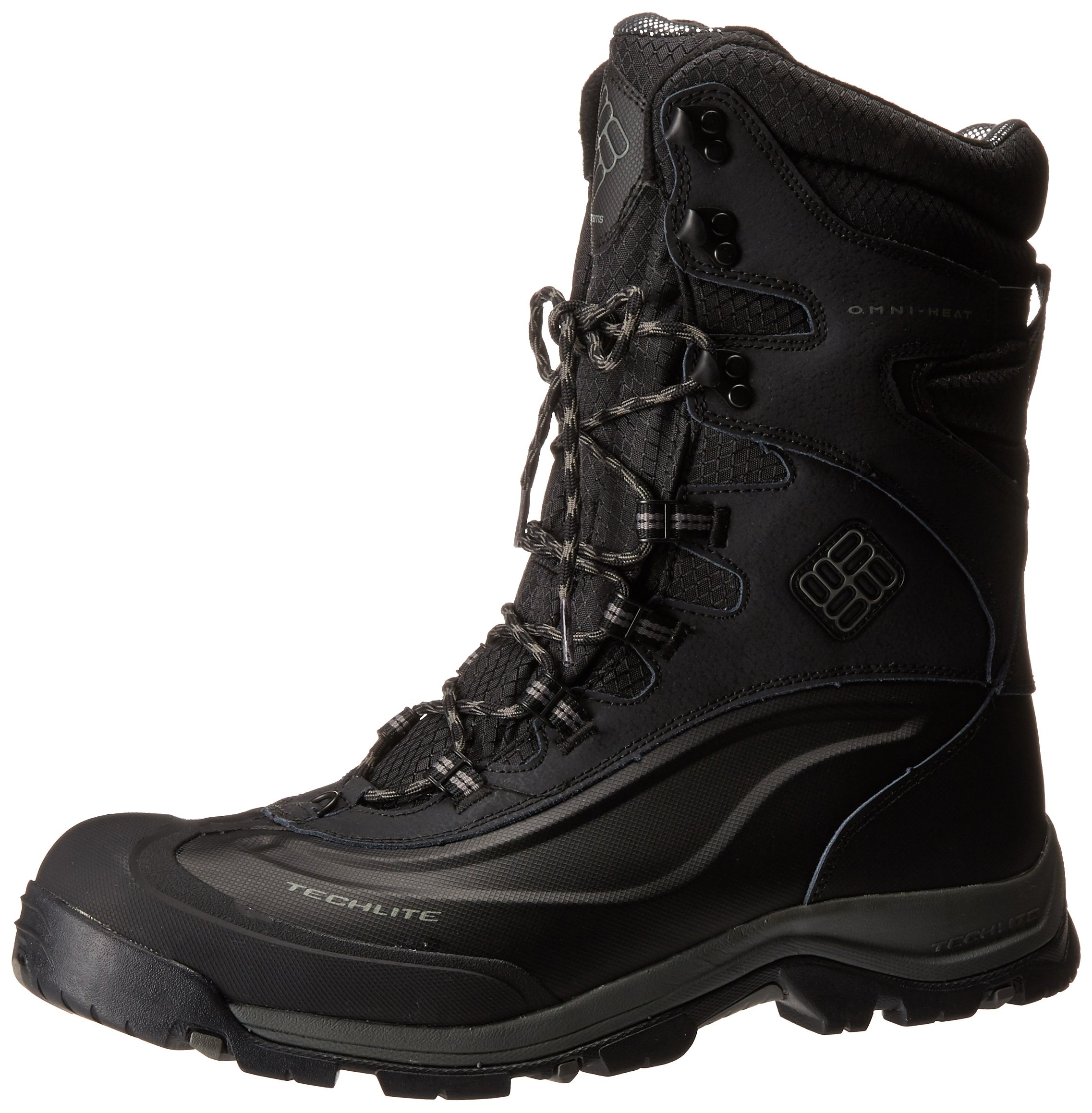 Columbia Men's Bugaboot Plus III XTM OM Cold Weather Boot, Black/Charcoal, 11 D US