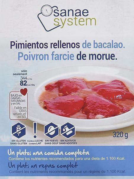 Menú Sanae Pimientos Rellenos de Bacalao - 4 Paquetes de 320 gr - Total: 1280