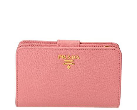 d0877cc9c6be Prada Women's Saffiano Leather Wallet Pink at Amazon Women's ...