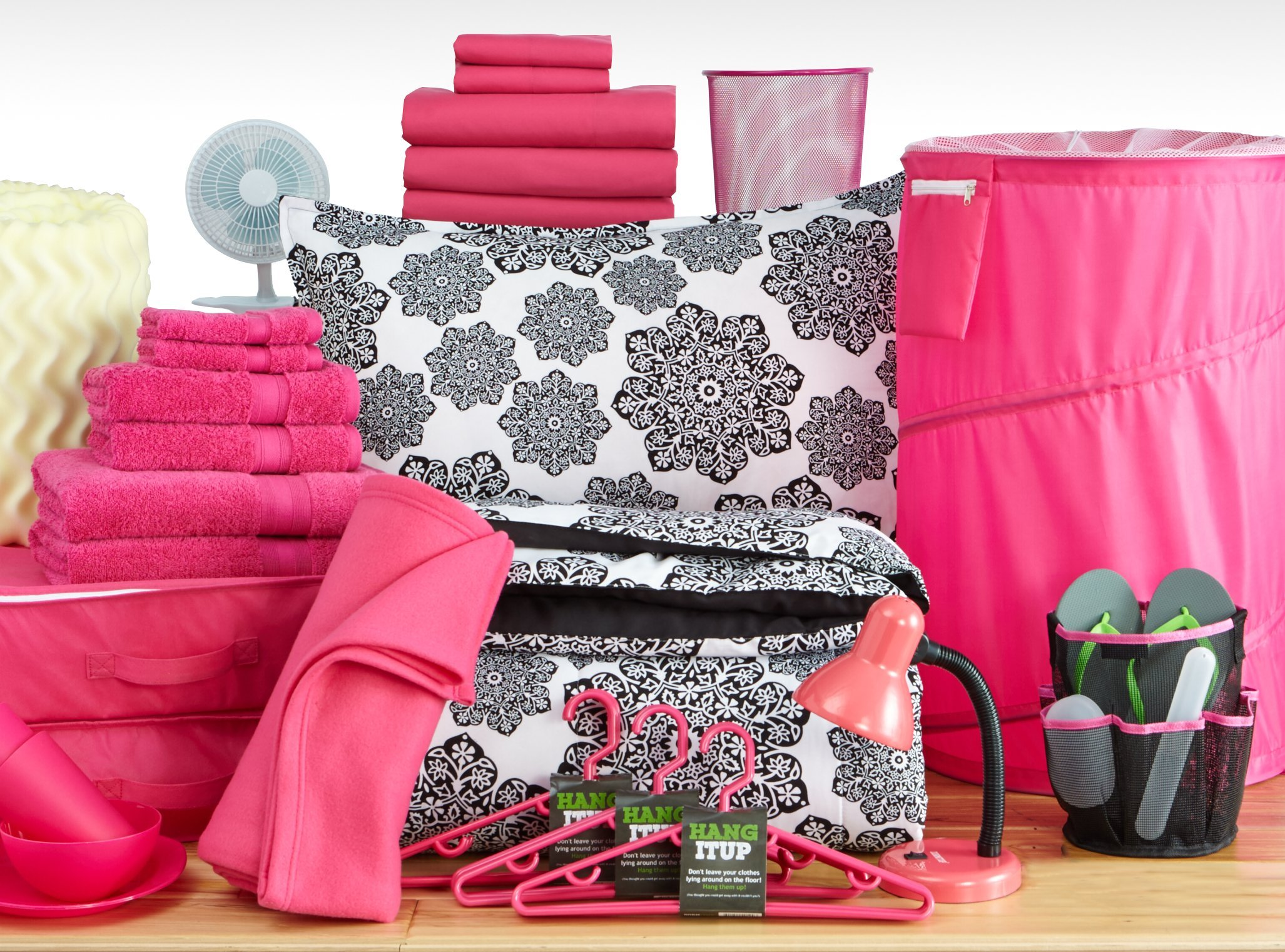 Twin XL College Dorm Room Bedding Sets - All Nighter Pink - The Good Life