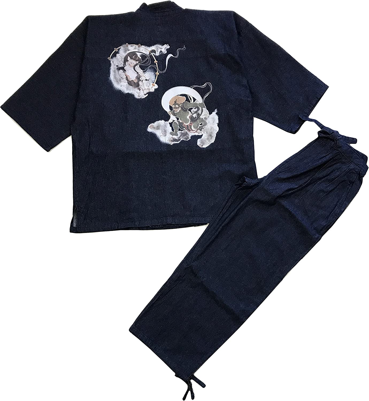 Edoten Japan 100% Cotton Denim Limited time Regular dealer sale Pattern Samue Printed