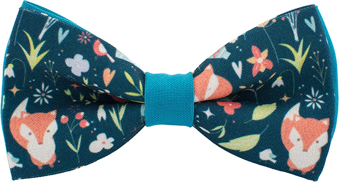 Dinosaurs bow tie pre-tied pattern green color unisex shape by Bow Tie House