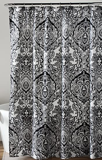 Black And White Flower Shower Curtain. Lush Decor Aubree Shower Curtain  72 x quot Black White Amazon com