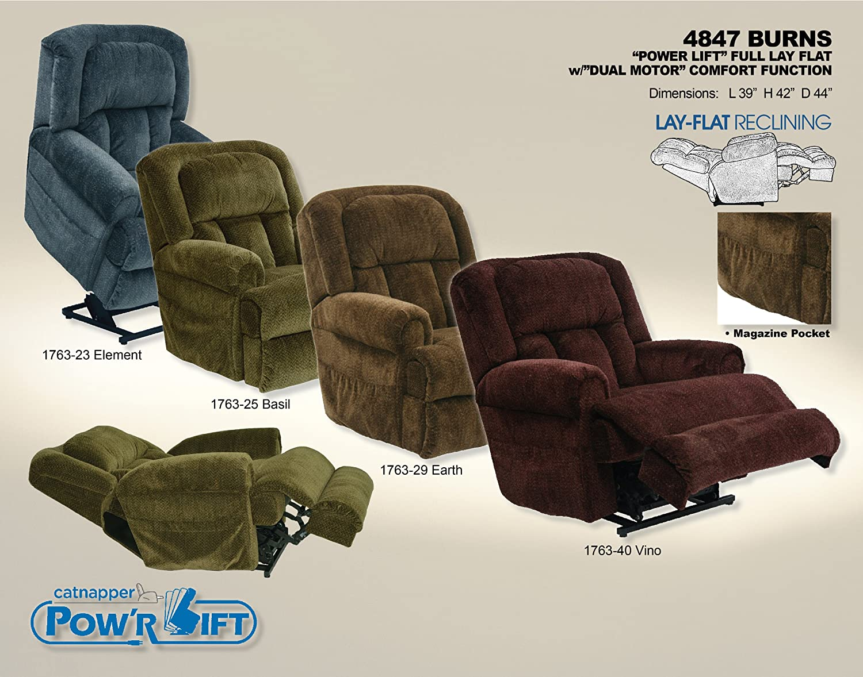 Amazon.com: Catnapper Burns 4847 Power Lift Chair & Recliner - Vino ...