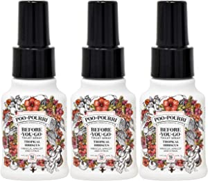Poo-Pourri Tropcical Hibiscus 1.4 Ounce-3 Pack, Bottle Tag Included