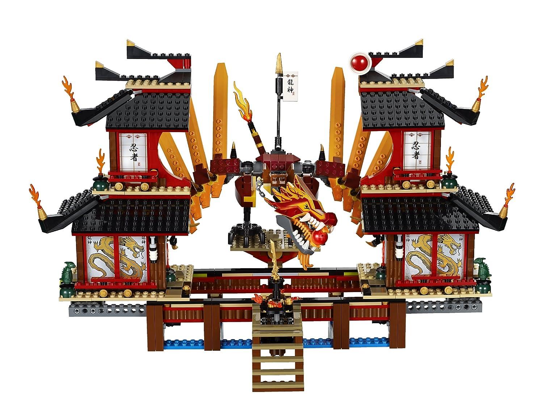 lego ninjago 2507 jeu de construction le temple de feu lego ninjago amazonfr jeux et jouets