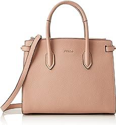 Furla Womens Borsa A Mano Furla Pin S In Pelle Rosa Pink