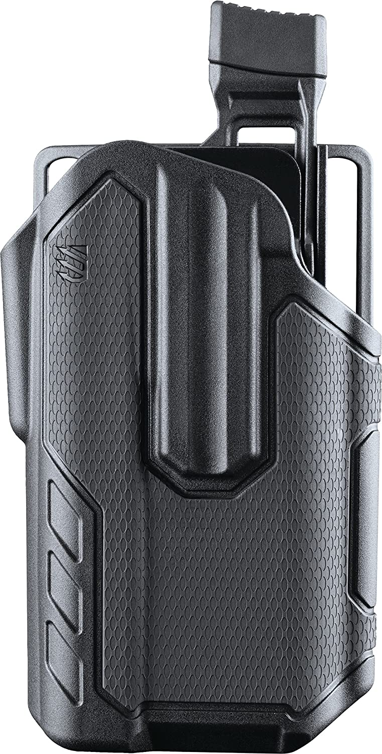BLACKHAWK! Omnivore MultiFit Surefire X300U-A Light Bearing Holster, Right, Black, One Size 419001BBR