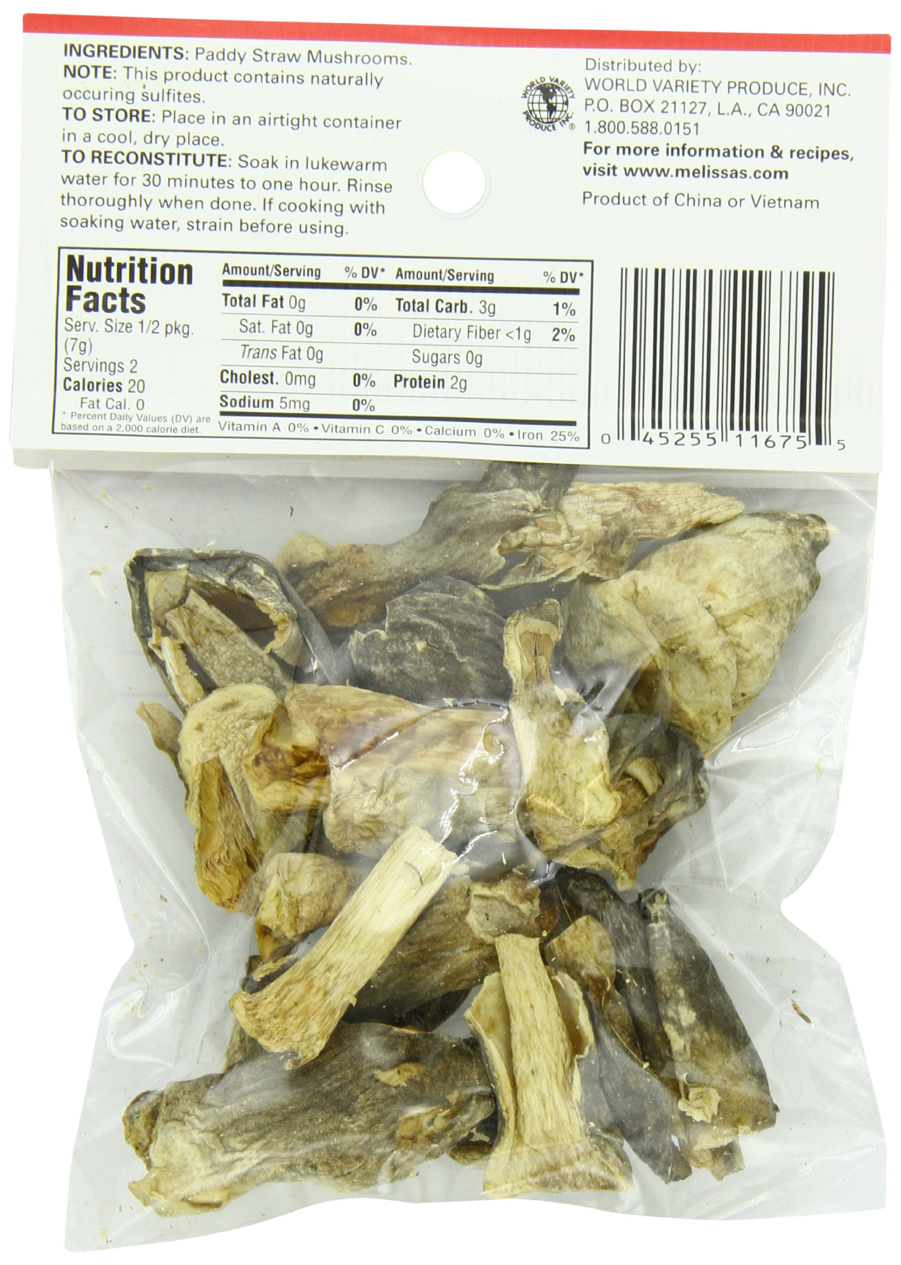 Melissa's Dried Patty Straw Mushrooms 0.5-Ounce Bags (Pack of 12), Dried Wild Mushrooms, Rehydrate and Cook as Fresh or Grind for Crusting Fish or Veal, Great for Cooking and Making Stocks by Melissa's (Image #3)