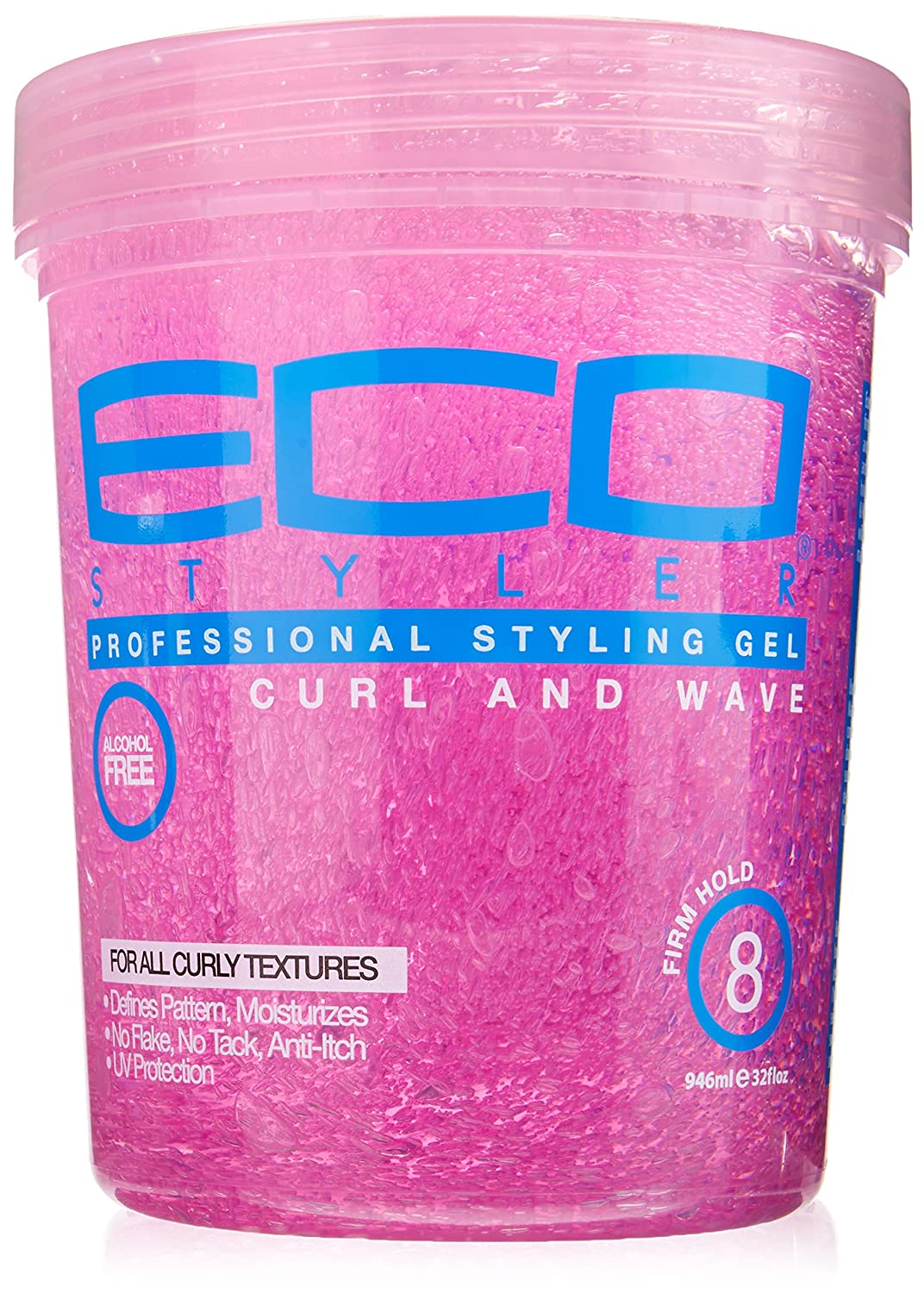Amazon Com Ecoco Eco Style Gel Pink 32 Ounce Hair Styling Gels Beauty