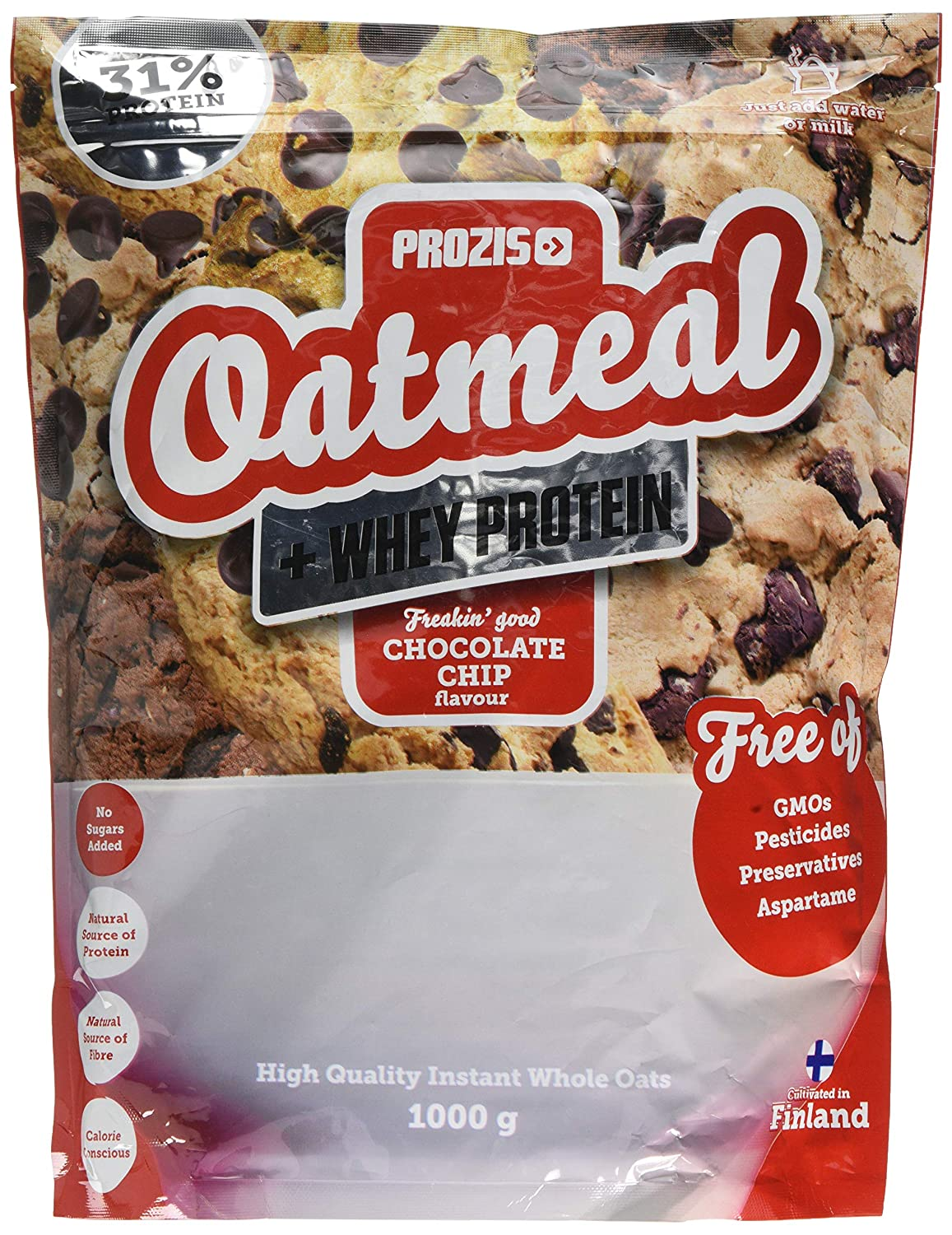 Prozis Oatmeal, Chocolate Chip - 1000 gr: Amazon.es: Salud y cuidado personal