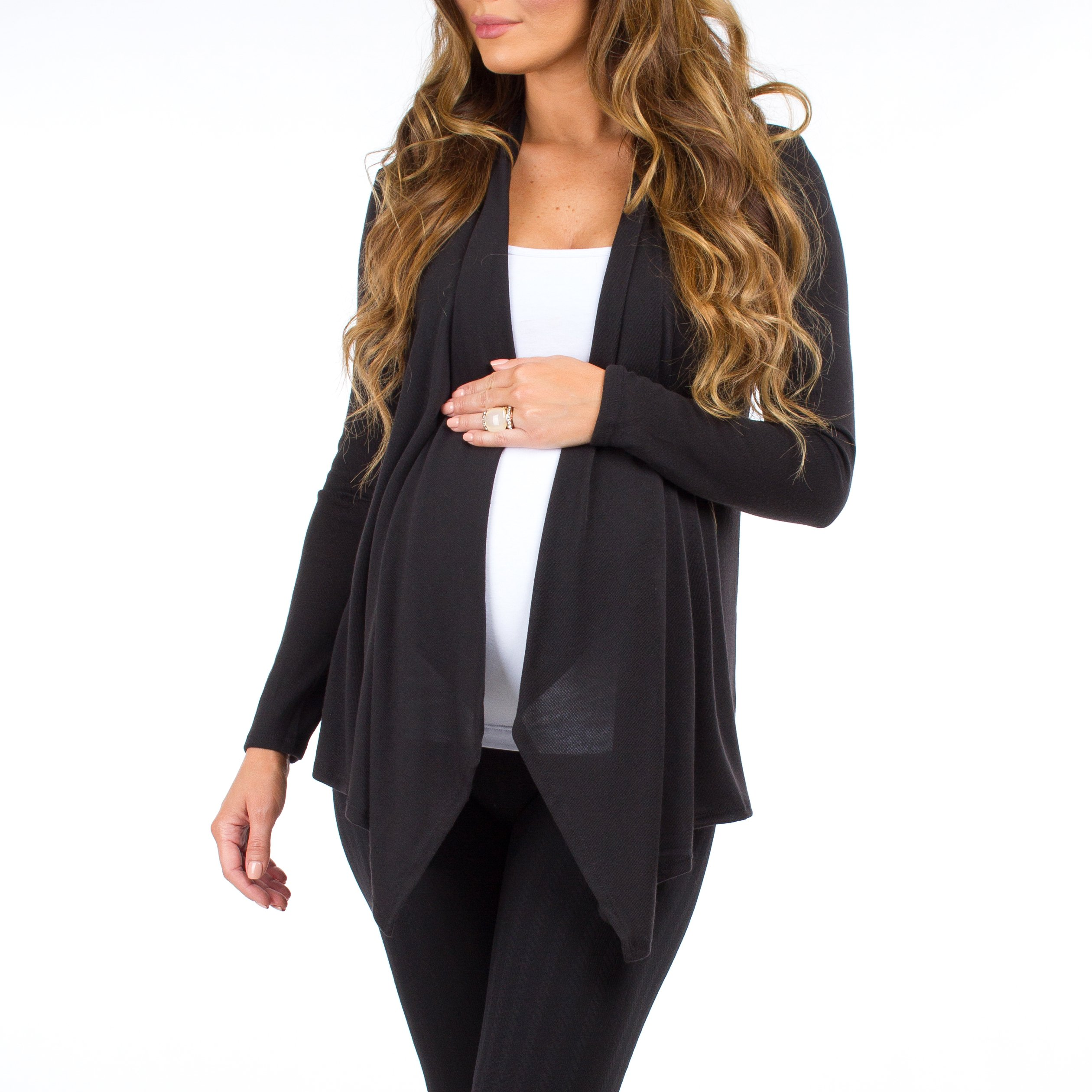 3 Pack Women's Hacci Maternity and Nursing Cardigan by Rags and Couture - Made in USA