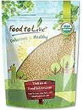 Food to Live Certified Organic Amaranth Grain (Whole Seeds, Non-GMO, Bulk) (1 Pound)