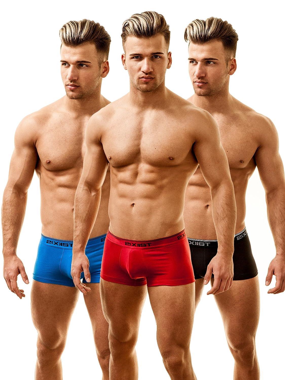 2(x)ist Hombre No-Show Boxershorts, Boxer Trunk 3 Pack