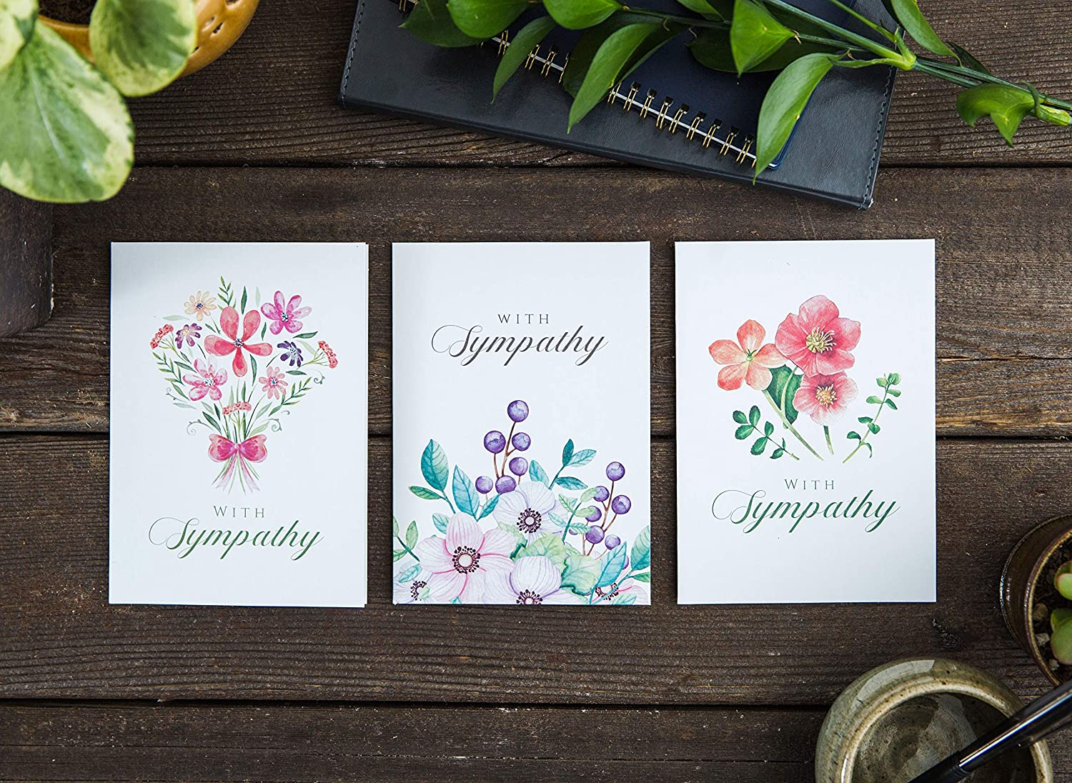 2 Pack Handmade 5x7 inch Notelet Cards Perfect blank cards Birthday Thank You Sorry General Greeting Hello Best Wishes Sympathy