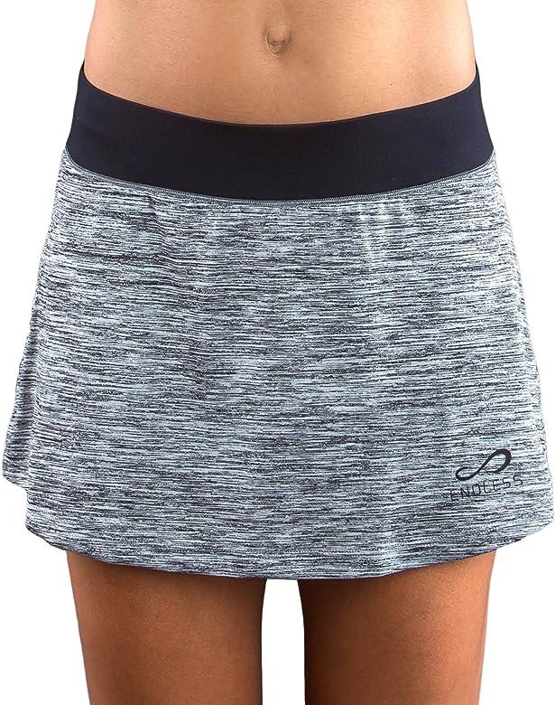 Endless Minimal Vigore Falda de Tenis, Mujer, Gris, S: Amazon.es ...