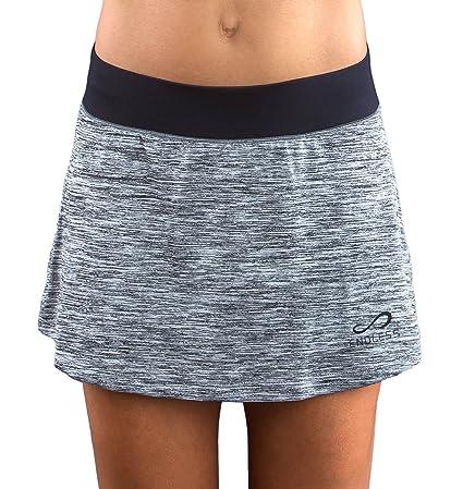 Endless Minimal Vigore Falda de Tenis, Mujer, Gris, S