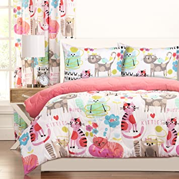 Crayola Purrty Cat Comforter Set Full Queen