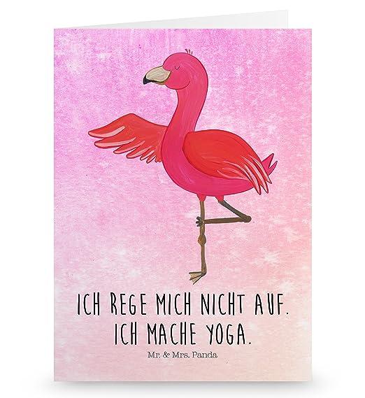 variantes tarjeta de felicitación Flamingo Yoga MT, Aquarell ...