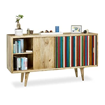 Native Home Sideboard bunt, Kommode mit Schiebetür, Highboard ...