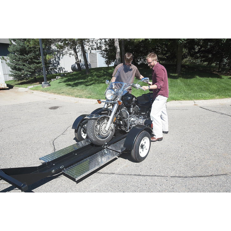 amazon com ultra tow single rail folding motorcycle trailer