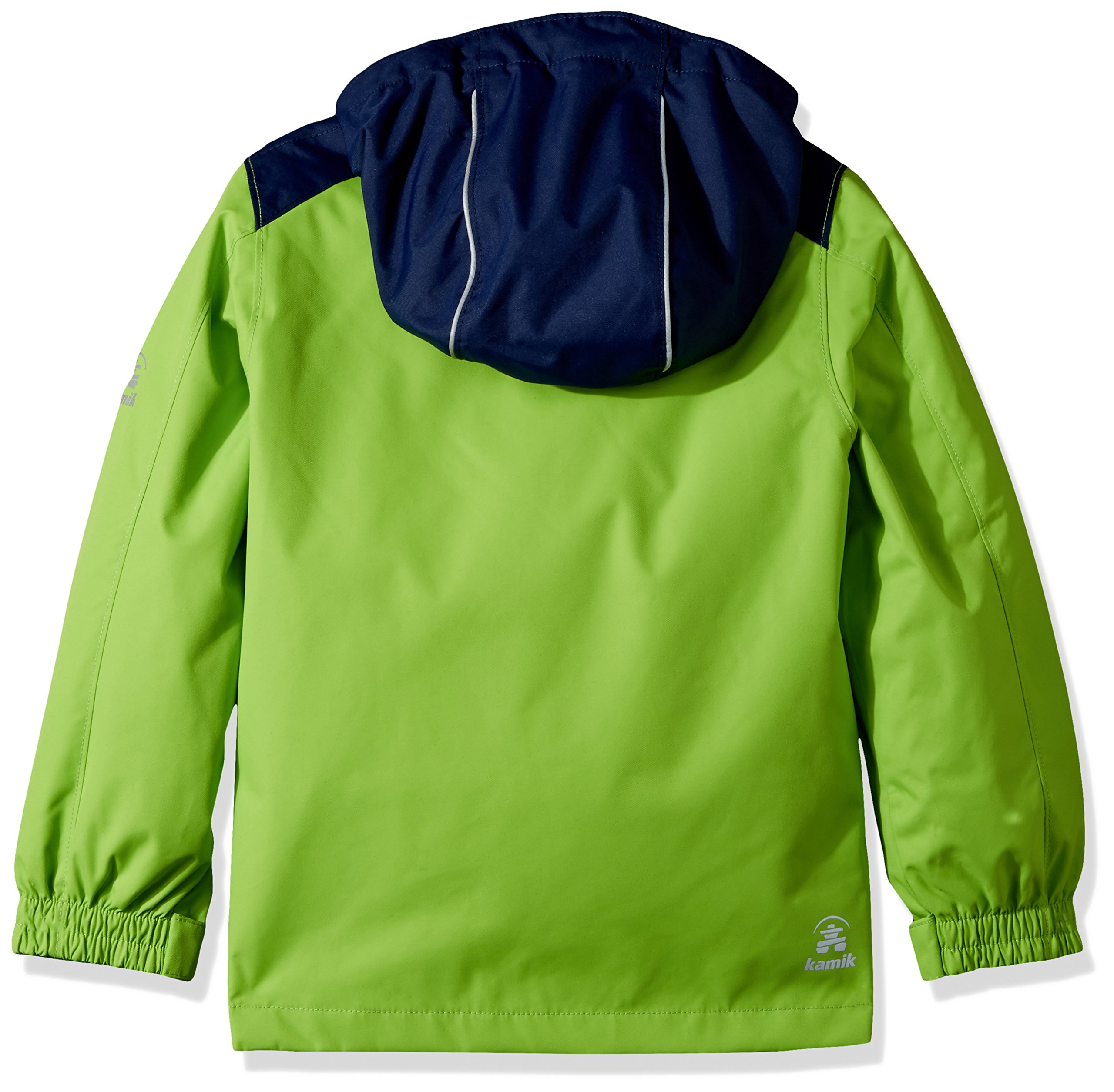 Kamik Winter Apparel Boy's Chase 3In1 Down, Gecko/Navy, 3 by Kamik Winter Apparel (Image #2)