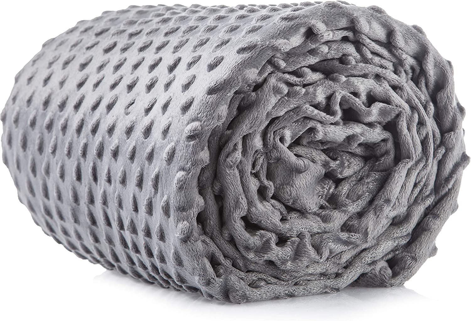 Cooshi Weighted Blanket Cover - 16 Ties - Soft and Machine Washable (Grey, 48 x 72)