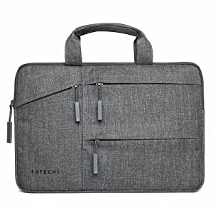 "Satechi Water-Resistant Laptop Bag Carrying Case with Pockets - Compatible with MacBook Pro 15"", HP Spectre x360 15"", Dell XPS 15"" and More (15 Inch)"