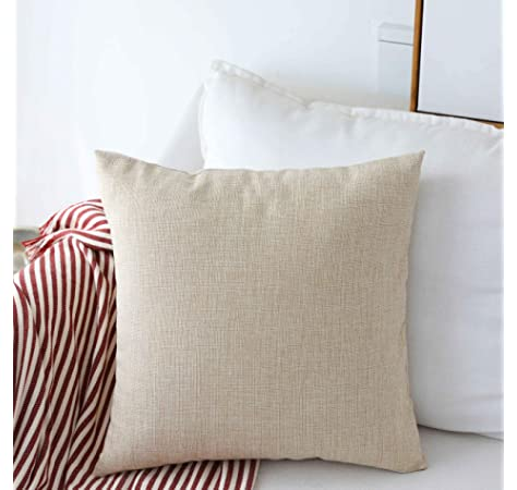 Amazon.com: Home Brilliant 2 Pack Burlap Decorative Pillow ...