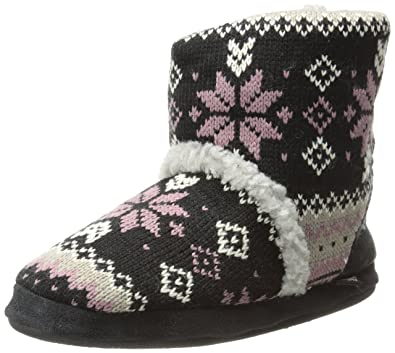 Women's Sherpa Slipper Bootie Lodge Fair Isle