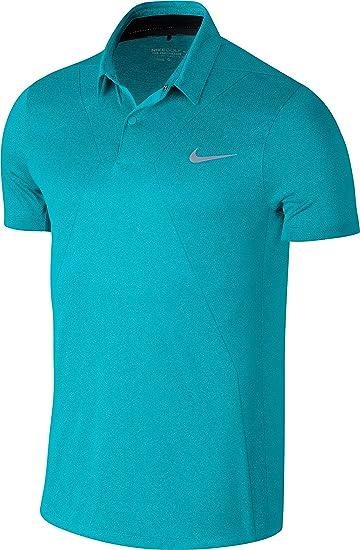 Nike MM Fly Swing Knit Photo Blau  Modern Fit Golf Polo