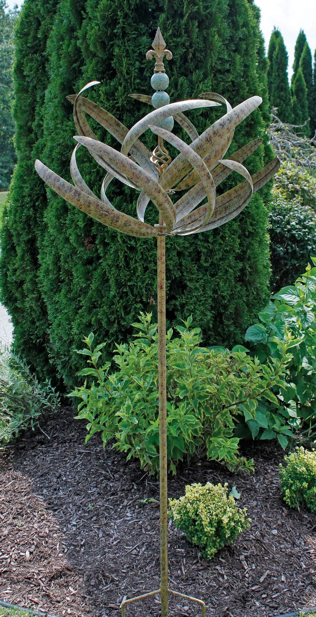 Marshall Home Harvest Green Spring Reeds Spinner