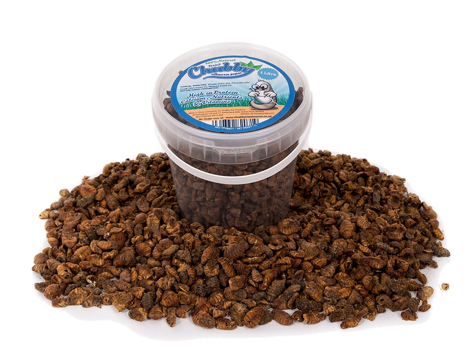 1 Litre Chubby Dried Silkworm Pupae for Wild Birds Free Delivery UKPetSupplies CPP82071