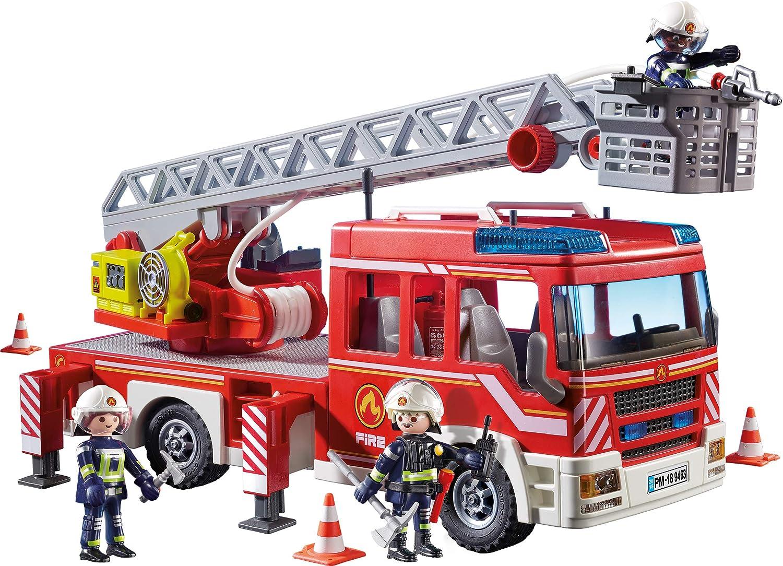 PLAYMOBIL 9463 Spielzeug-Feuerwehr-Leiterfahrzeug /&  9464 Spielzeug-Feuerwehr-R/üstfahrzeug