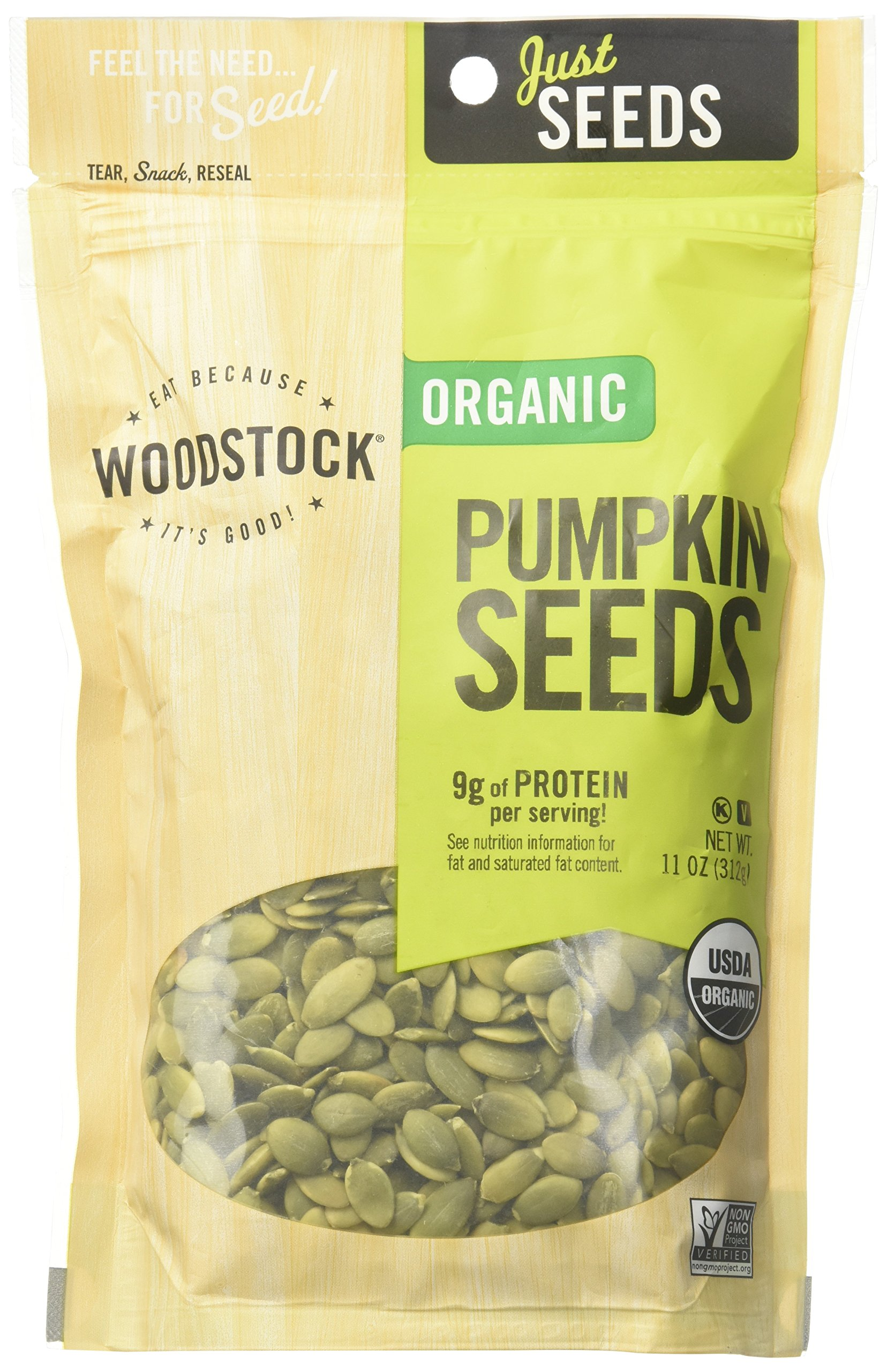 Woodstock Farms, Organic Pumpkin Seeds, 11 oz