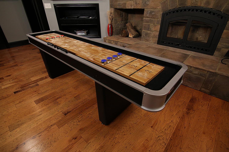 Amazon.com : Atomic 9u0027 Platinum Shuffleboard Table : Shuffleboard Tables :  Sports U0026 Outdoors